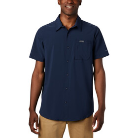 Columbia Triple Canyon Solid Camiseta Manga Corta Hombre, collegiate navy